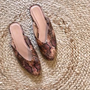 Old Navy Rust Python Print Loafer Flats Size 10